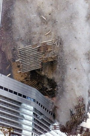 The south tower of New York's World Trade Center collapses Tuesday Sept. 11, 2001.