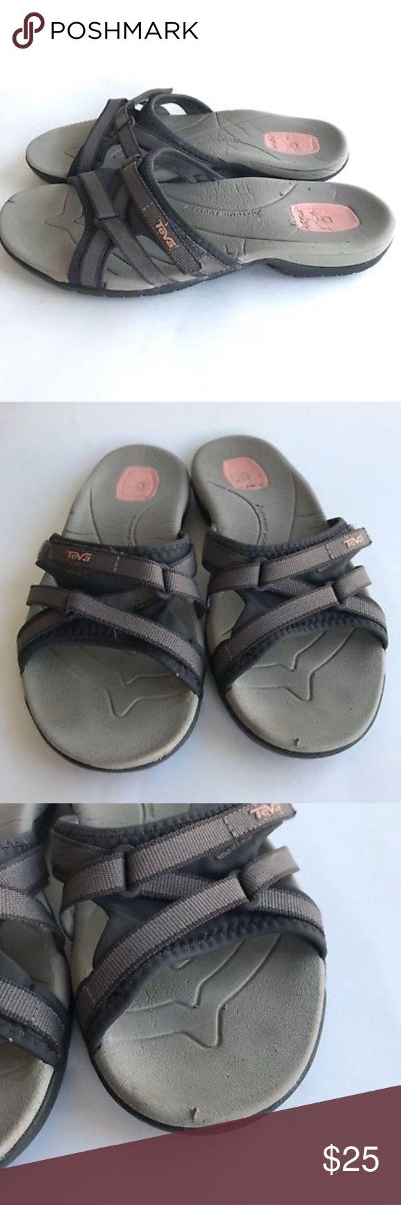Teva Flip Flop 7.5 Sandal Leather River Rubber Teva Flip Flop 7.5 Sandal Leather River Rubber Women's Slides Water Beach Shoes Teva Shoes Sandals