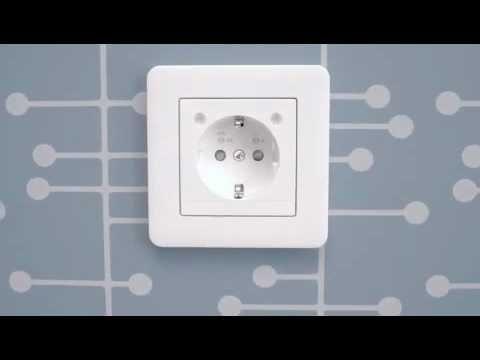 Exxact 1-vägguttag finns i en mängd utföranden och kan kombineras fritt med de olika Exxact ramarna