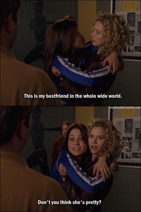 Peyton and Brooke, One Tree Hill - Brooke was loopy from taking those pain killers..