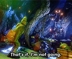 Like having to spend hours planning what you're wearing. On a DATE. | 17 Signs You're Just Not That Into Relationships, As Told By The Grinch