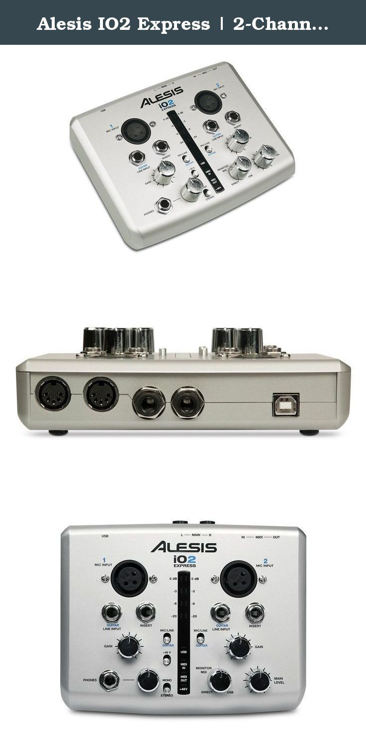 Alesis IO2 Express | 2-Channel USB Recording Interface with 48V Phantom Power (24-bit / 48 kHz). The Alesis iO2 EXPRESS is a compact, audio-recording interface for home studios and portable recording setups. This two-channel USB device for Mac and PC-based systems enables you to record at up to 24-bit resolution for input into virtually all DAW, recording, and performance software. This compact recording interface is small enough to comfortably fit into your mobile recording rig, laptop…