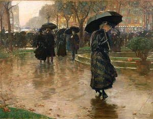 Rain Storm, Union Square, 1890  Childe Hassam