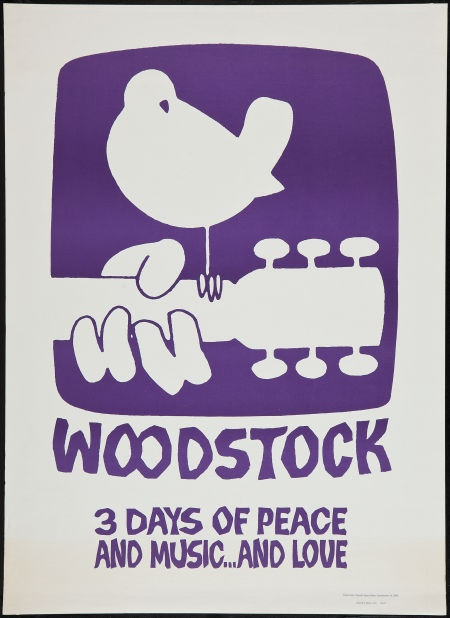 """Woodstock (Poster Prints, Circa 1969). Poster Print (30"""" X 42""""). #heritageauctions"""
