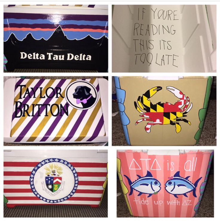 My cooler for Delta Tau Delta Formal in Gatlinburg