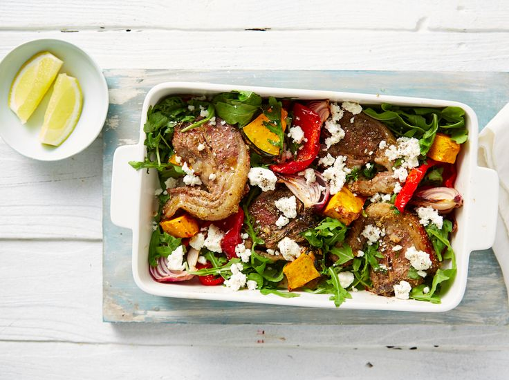 Quick and easy dinner from the 8-Week Program. Mediterranean Lamb Chops with salad. Registrations close tomorrow. Join now: http://bit.ly/1BB3tFH