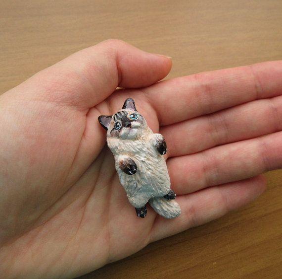 Benutzerdefinierte Haustier Porträt Figur. Katze von FlowerLandShop