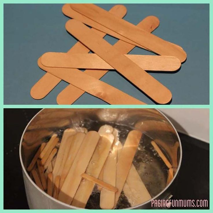 Boil the sticks and shape in a cup or cap (like aerosol cap) and let dry in sun. Decorate for bracelets or other things.