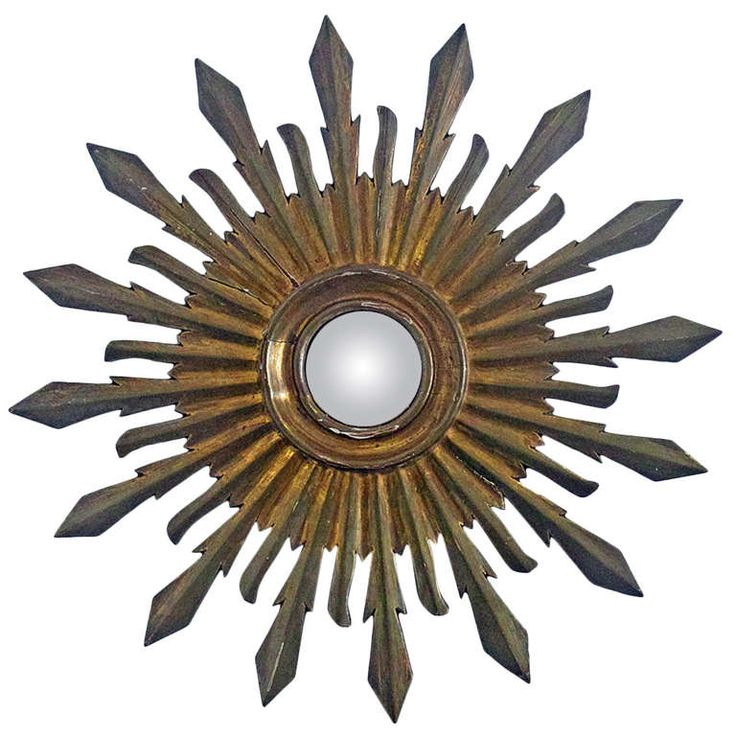 Colonial Style Sunburst Wall Mirror | From a unique collection of antique and modern sunburst mirrors at http://www.1stdibs.com/furniture/mirrors/sunburst-mirrors/