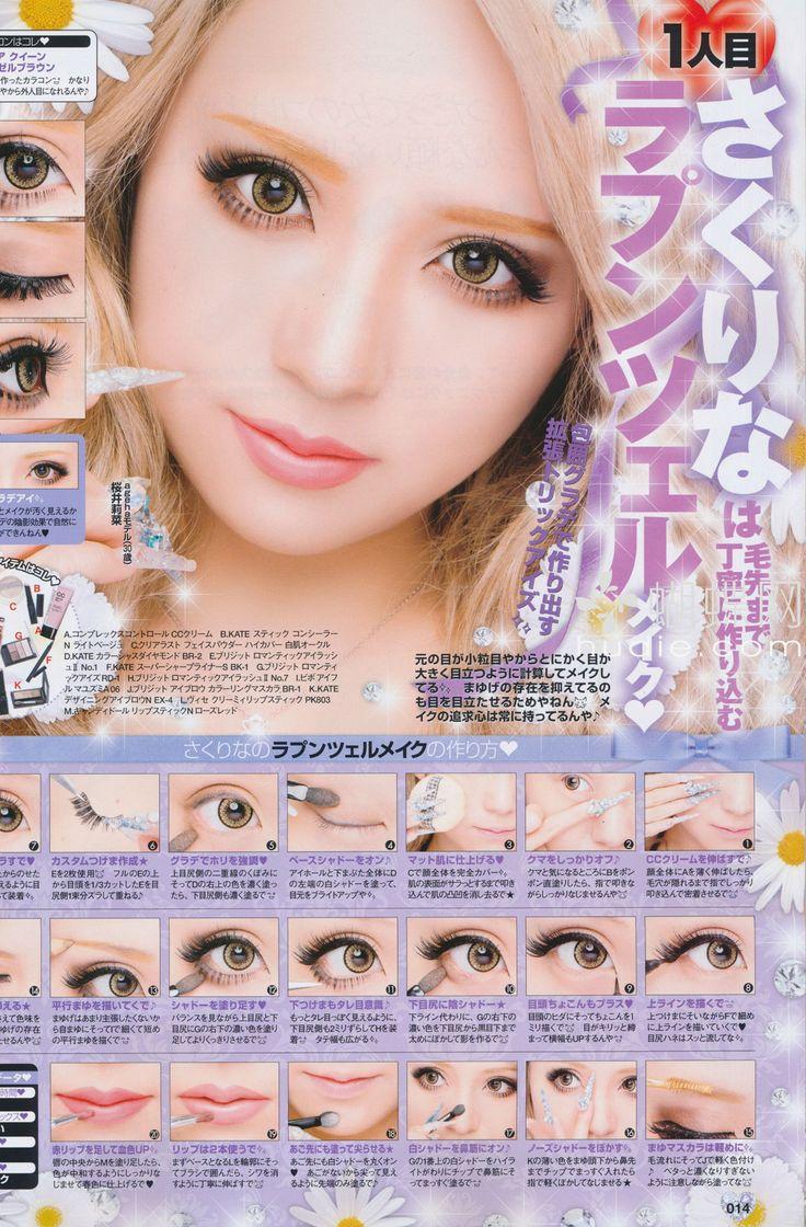 Japanese Gyaru Makeup Tutorial