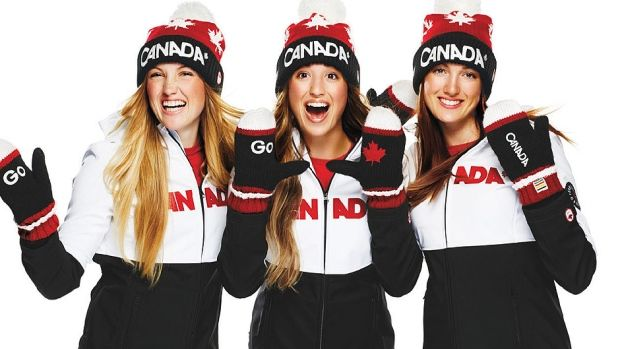 From left, Justine, Chloe and Maxime Dufour-Lapointe.