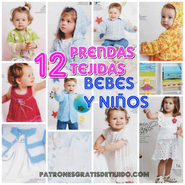 Más de 12 prendas tejidas para el ajuar del bebé y niño