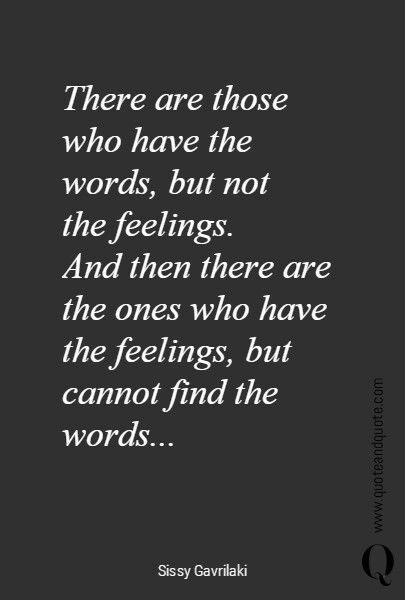 Words and feelings