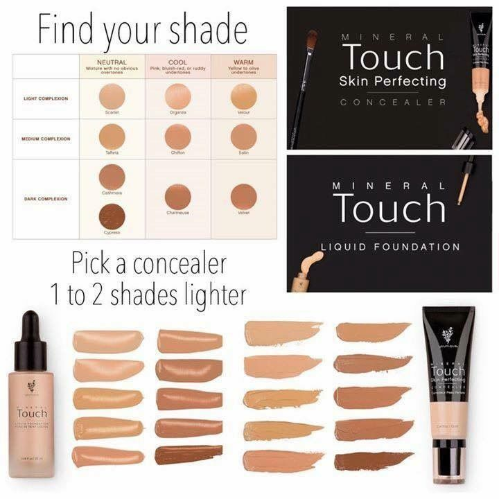 Younique Mineral Touch Concealer and Liquid Foundation-BEST out there, hands down. It goes on like a liquid and turns to a powder. www.MyMustHaveMakeup.com #foundation #concealer