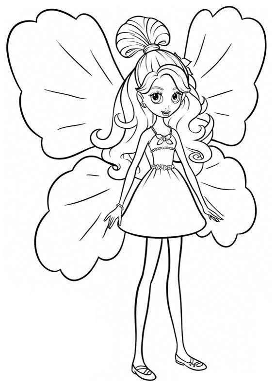 FAIRY COLORING PAGES BARBIE AS A FAIRY COLORING PAGES Kid craft - copy coloring pages barbie mariposa