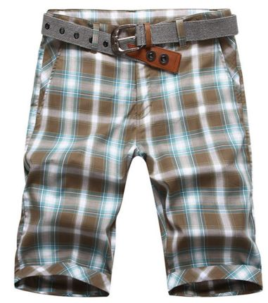 Classic Design Summer Men Plaid Shorts