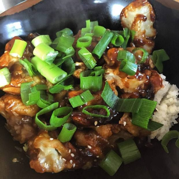 Sticky cauliflower
