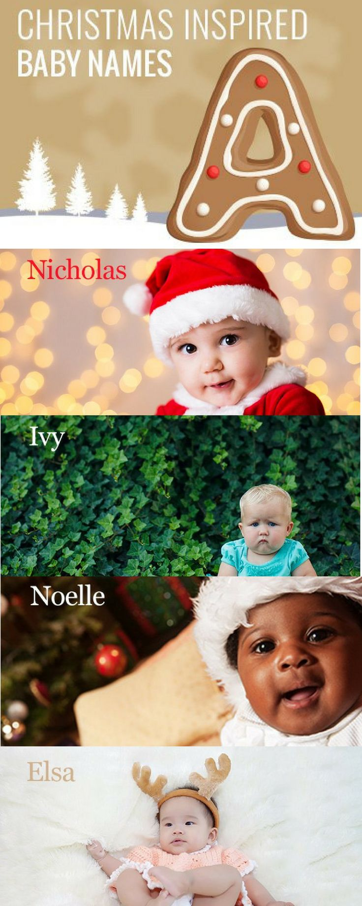 Here are some of our favourite Christmas inspired baby names! Click on the image to see more festive name ideas - and what they mean!