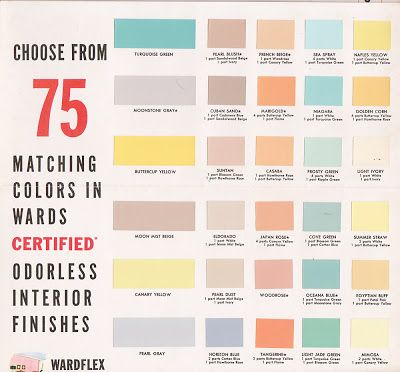 Vintage Goodness 1.0: Vintage Decorating - 1950's Paint Color Chip Brochures