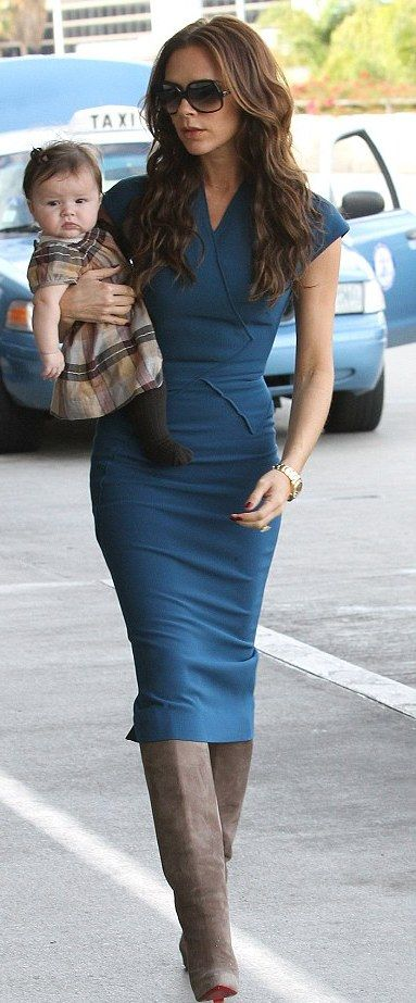 Not the boots but love the dress (if I were thinner)