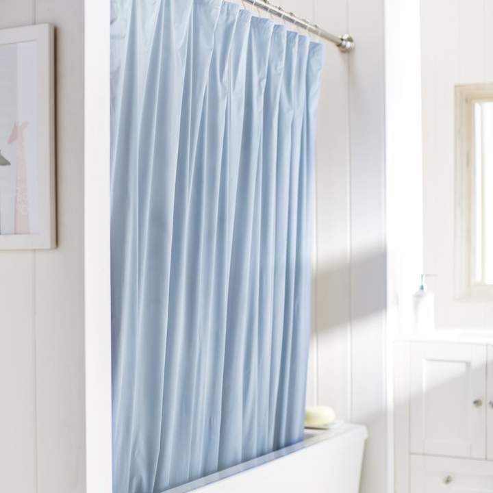 Amann Vinyl Single Shower Curtain Liner Blue Shower Curtains
