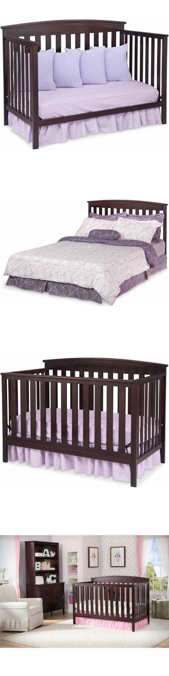 Baby Nursery: Delta Children Gateway 4-In-1 Convertible Crib Dark Chocolate Brown -> BUY IT NOW ONLY: $139.23 on eBay!