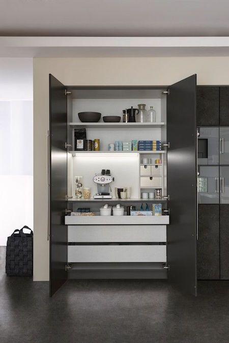 Hidden kitchen workspace