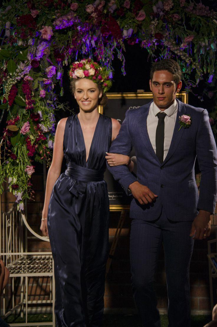 When Freddie met Lilly - Spring Valentina Collection Launch. Kahli wears Milla Maxi in Navy silk.  www.whenfreddiemetlilly.com.au INSTAGRAM #whenfreddiemetlilly