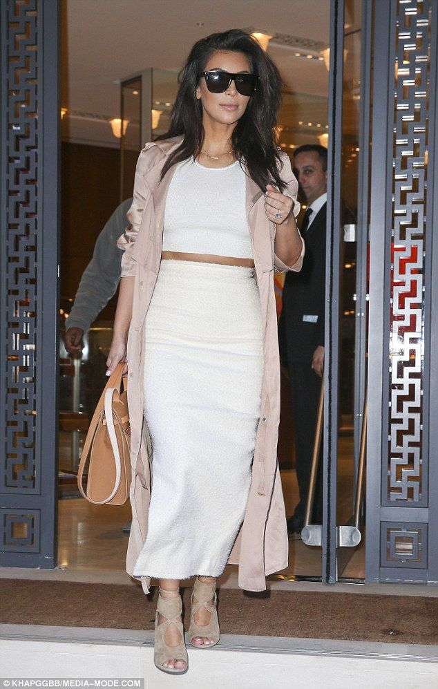 Biggest fan: Kim is famous for being a supporter of the brand, often pictured in her favourite Hermes sandals