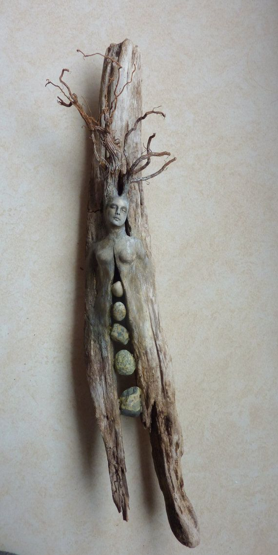 Spirit Tree Woman with Stones by ShapingSpirit on Etsy