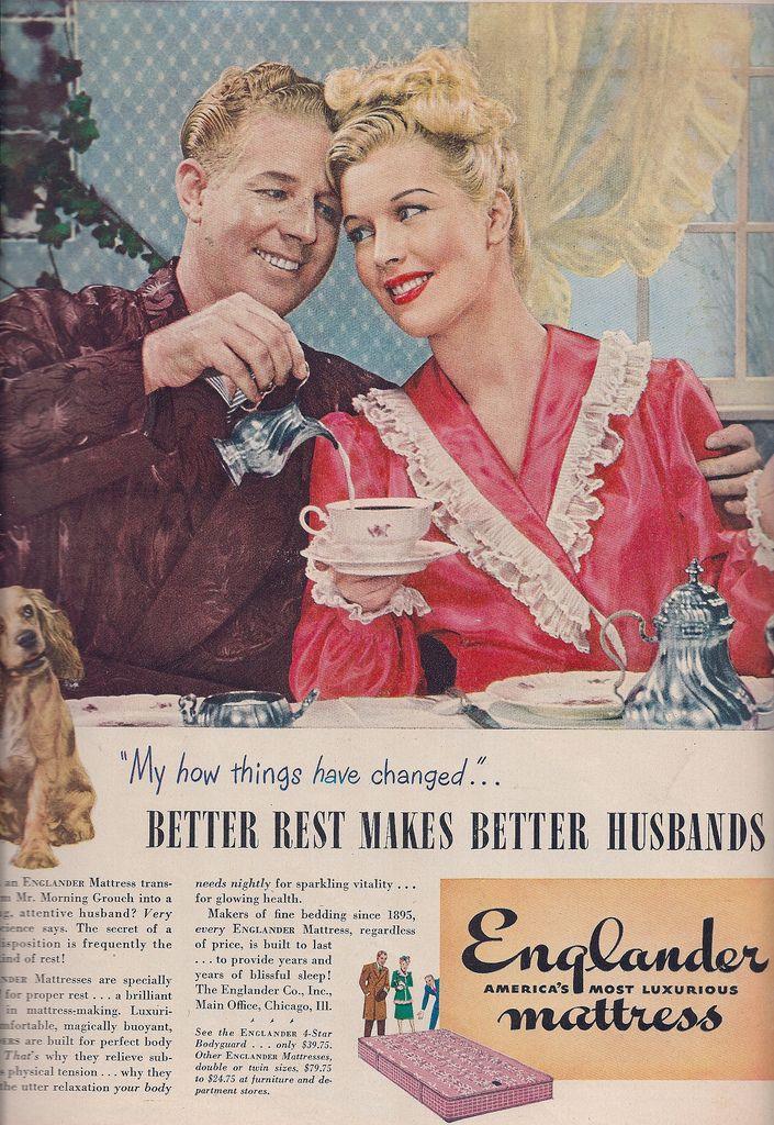 Vintage advertisement Better rest make better Retro husbands ad 1940's Englander Mattress      | Flickr - Photo Sharing!