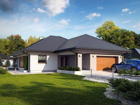 DOM.PL™ - Projekt domu TP Della CE - DOM TP1-75 - gotowy projekt domu
