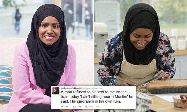 Muslim Nadiya Hussain says passenger REFUSED to sit next to her