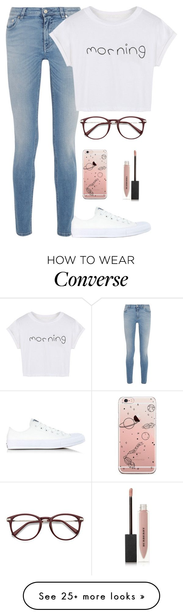 """morning"" by pikenapayne on Polyvore featuring Givenchy, WithChic, Converse and Burberry"