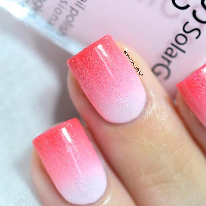 20 Cool Nails Color Combos To Experiment Naildesignsjournal Red Ombre Nails Nail Color Combos White Nail Designs