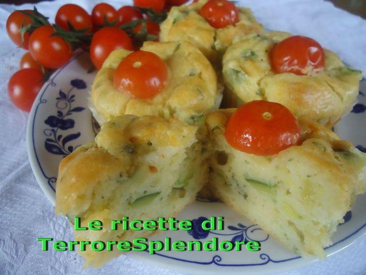 Le ricette di TerroreSplendore: antipasti - Muffins ricotta e zucchine