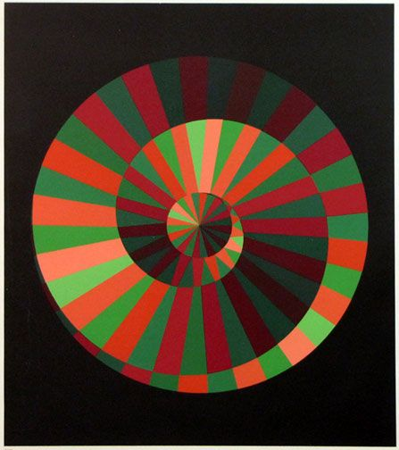 """Kraft und Natur"" by Victor Vasarely, adapted as logo for 1972 Olympic Games in Munich"