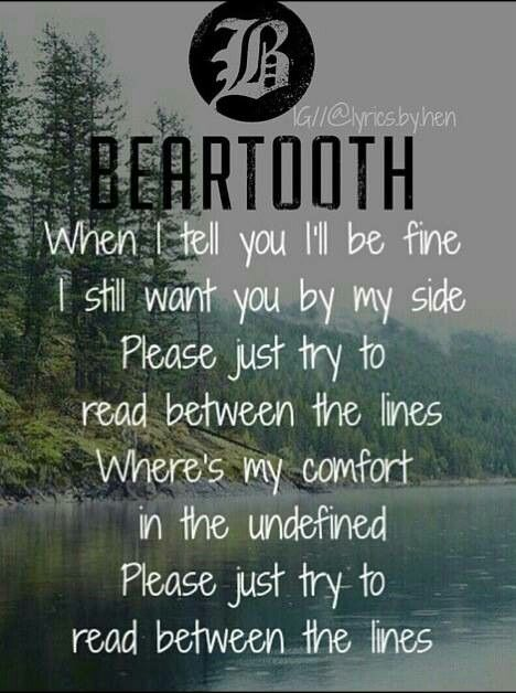 The Lines by Beartooth. May or may not be obsessed with this band....