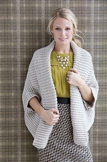 Crochet Ribbed Shrug pattern by Vanna White