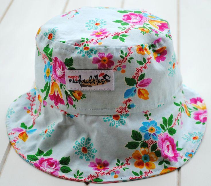 Floral ponytail hat