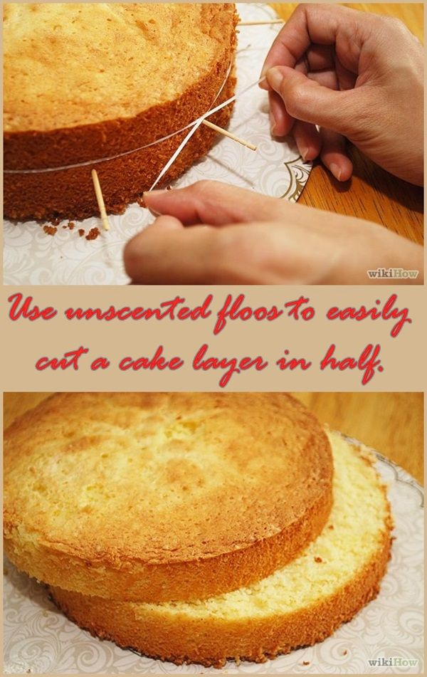 un buen truco para cortar las tartas