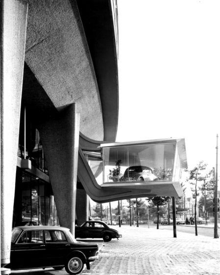 1955 The Autopon Volkswagen Dealership At The Overtoom In