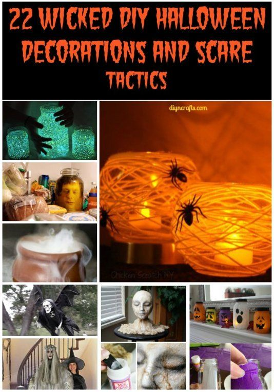 117 best Halloween images on Pinterest Male witch, Halloween stuff - how to make homemade halloween decorations for kids