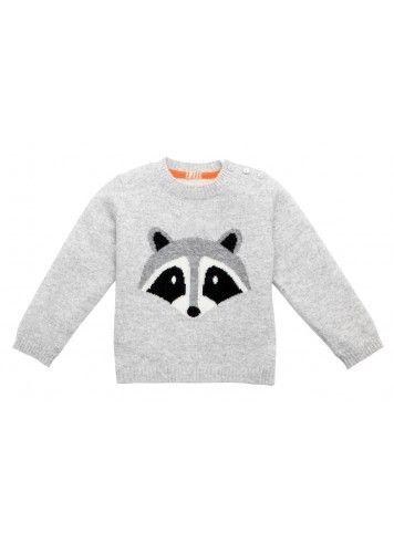 raccoon sweater