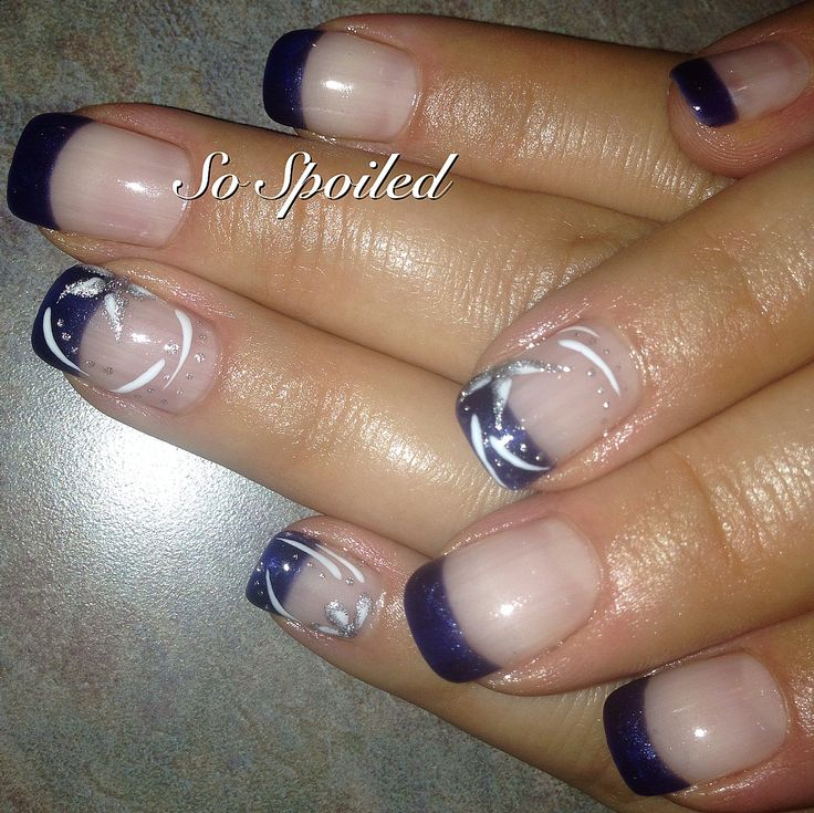 Bio Sculpture Nail Art U0026 Design   Fall / Winter 2013 A Crisp Navy French  With