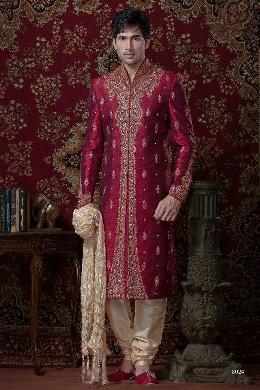 Sherwani For Men : Sherwani Designs, Designer, Groom & Wedding Sherwanis. We are Jugniji.com selling Indian wedding sherwanis online and on this page you can buy @ Shop online at http://jugniji.com/mens-collection/classic-sherwani-collection/classic-sherwani-2104.html