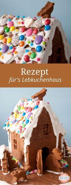 Rezept Lebkuchenhaus mit Vorlage - gelingsicher! Ich habe es mit meinen kleinen Kindern für euch ausprobiert - dieses Lebkuchenhaus steht stabil, wenn man den Trick kennt, den jeder kleiner Hexenhaus Architekt kennen muss... http://www.meinesvenja.de/2012/12/03/so-baut-man-ein-stabiles-hexenhaus/