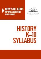 NSW Australian Curriculum History Syllabus - explicit references to the use of eLearning tools across Early Stage One - Stage Three.