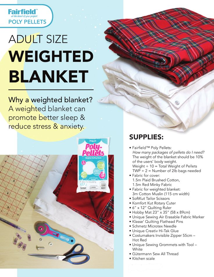 DIY Project Weighted Blanket Fabricland Weighted