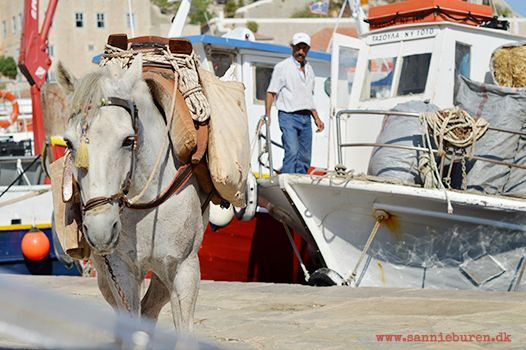 Impressions from Hydra, Greece, September 2016 © Sannie Terese Burén #Mules #Boat #Harbour